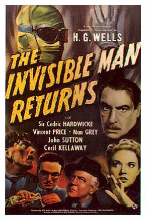 British poster from the movie The Invisible Man Returns