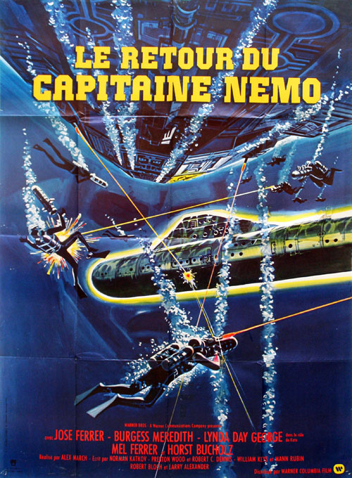 French poster from the TV movie The Return of Captain Nemo