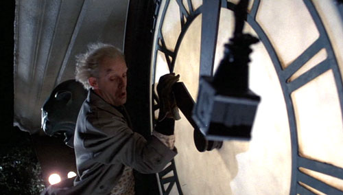 Doc Brown plays as Harold Lloyd - Back to the Future