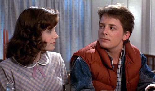 Marty meets his future mom - Back to the Future