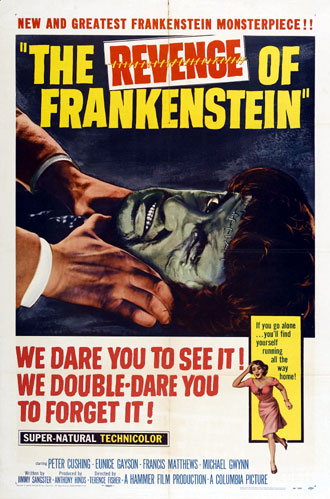 Unknown poster from the movie The Revenge of Frankenstein