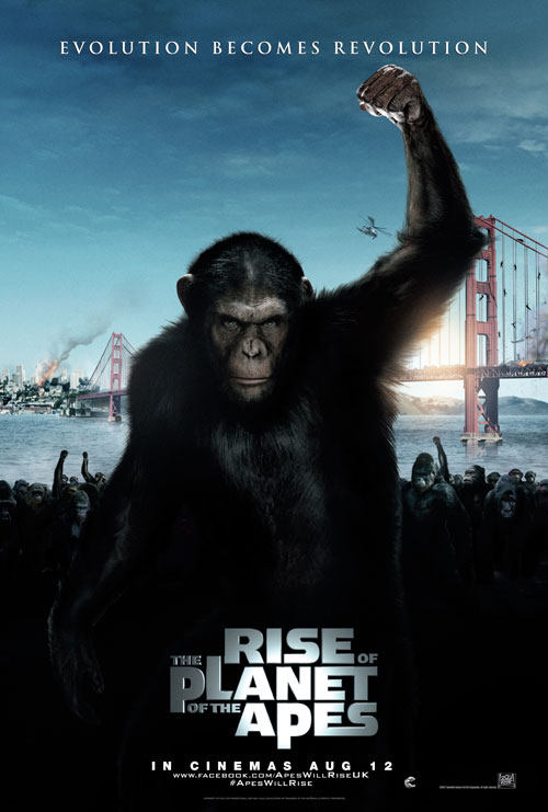 British poster from the movie Rise of the Planet of the Apes
