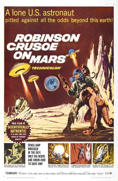 Us poster from the movie Robinson Crusoe on Mars