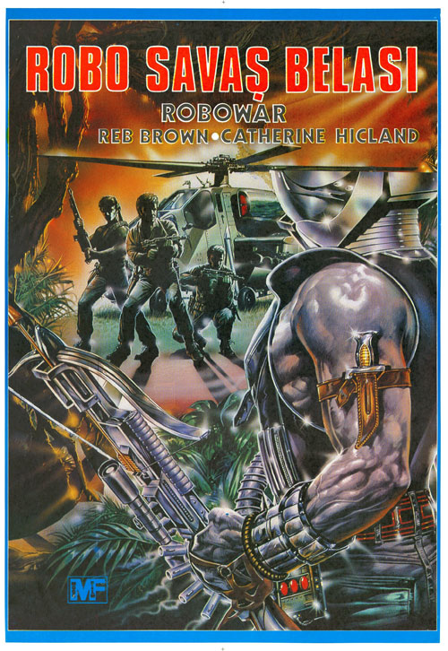 Us poster from the movie Robowar (Robowar - Robot da guerra)