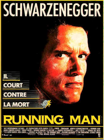French poster from the movie The Running Man