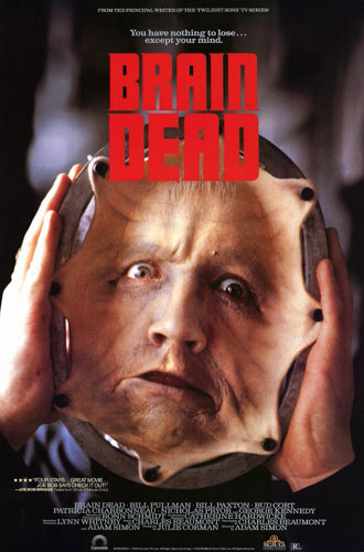 French poster from the movie Brain Dead