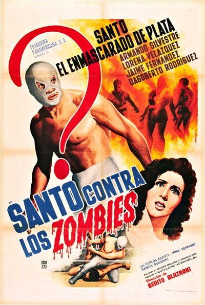 Unknown poster from the movie Santo vs. the Zombies (Santo contra los zombies)