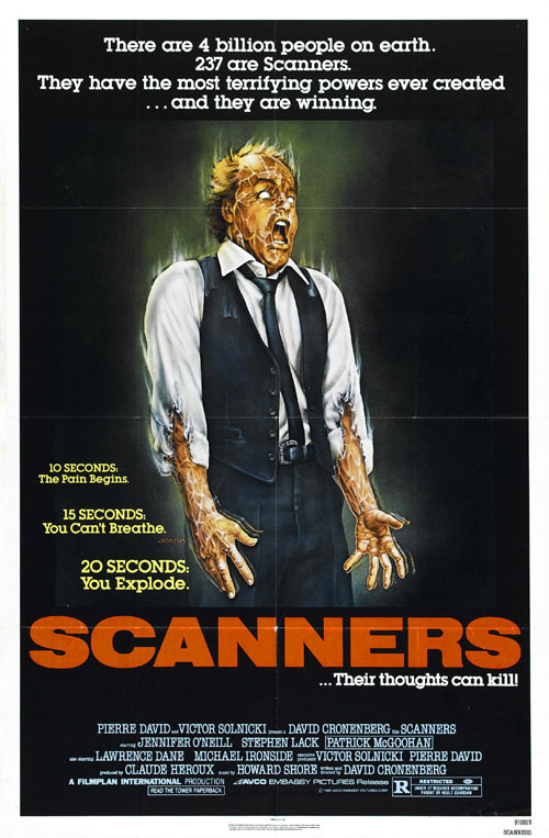 Us poster from the movie Scanners
