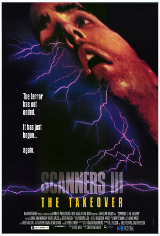 Unknown poster from the movie Scanners 3 : The Takeover (Scanners III: The Takeover)