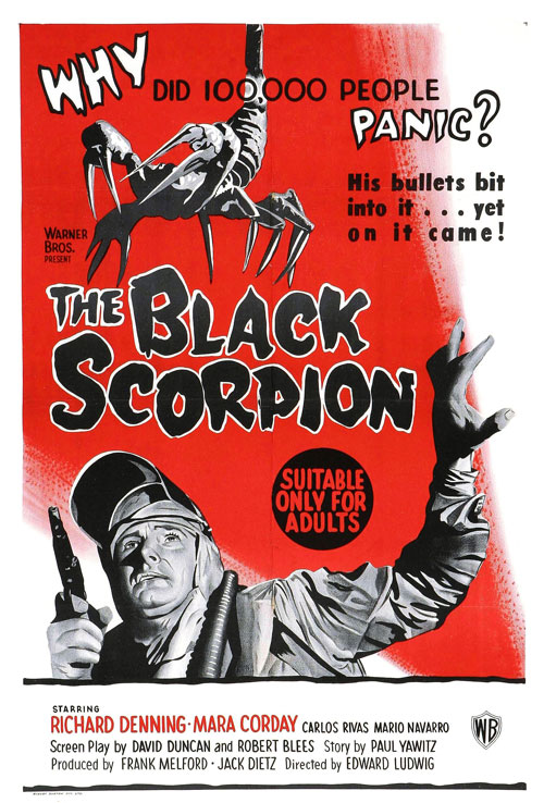Us poster from the movie The Black Scorpion
