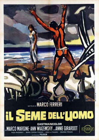 Italian poster from the movie The Seed of Man (Il seme dell'uomo)