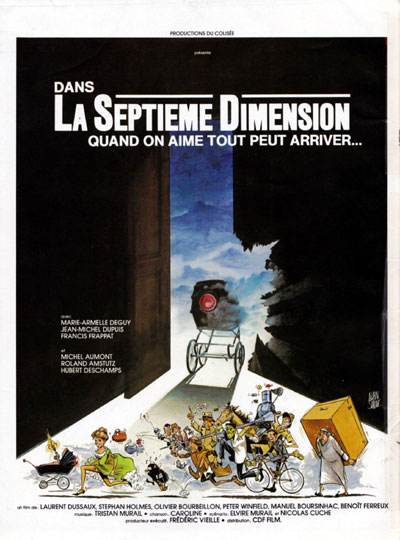 French poster from the movie La Septième dimension