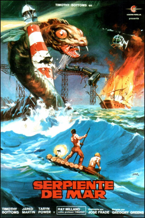 Spanish poster from the movie Hydra-Monster of the Deep (Serpiente de mar)