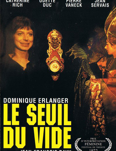 French poster from the movie Le Seuil du vide