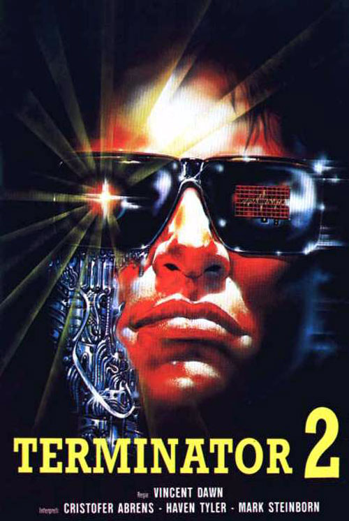 Italian poster from the movie Aliens 2 (Terminator II)