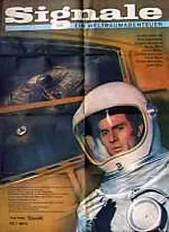 German poster from the movie Signals: An Adventure in Space (Signale - Ein Weltraumabenteuer)