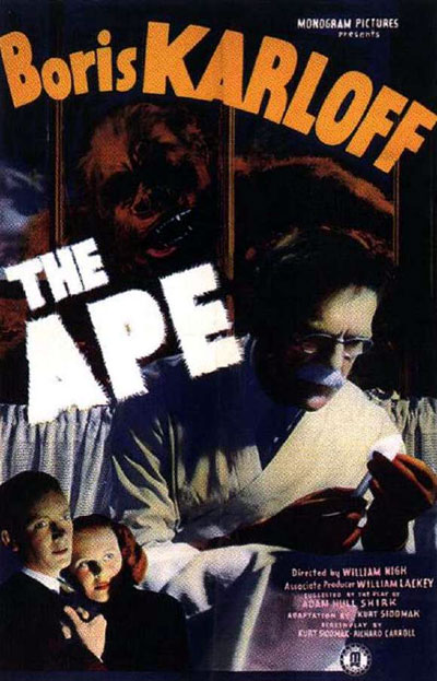 Us poster from the movie The Ape