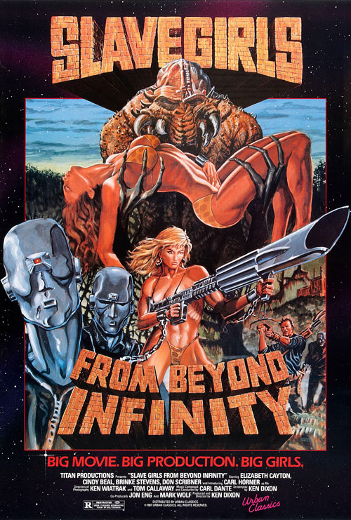 Us poster from the movie Slave Girls from Beyond Infinity