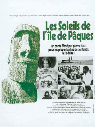 French poster from the movie The Suns of Easter Island (Les soleils de l'Ile de Pâques)