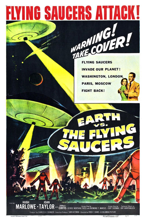 Us poster from the movie Earth vs. the Flying Saucers