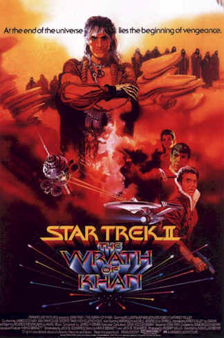 Affiche américaine du film Star Trek II : la colère de Khan (Star Trek: The Wrath of Khan)
