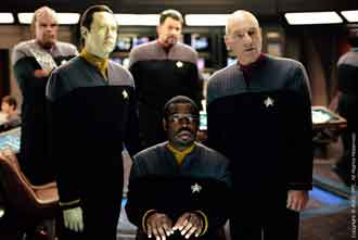 The Enterprise crew on the bridge again - Star Trek: Nemesis