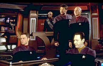The Enterprise's crew - Star Trek: First Contact