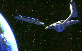 U.S.S. Enterprise around the Earth - Star Trek: First Contact