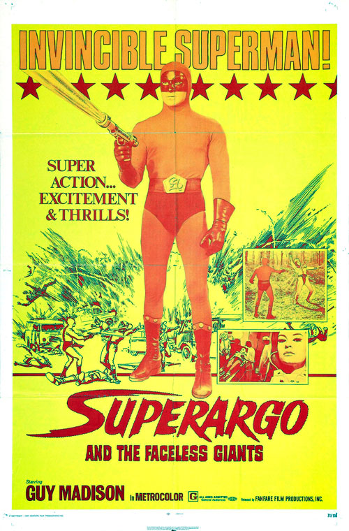 Us poster from the movie Superargo and the Faceless Giants (L'invincibile Superman)