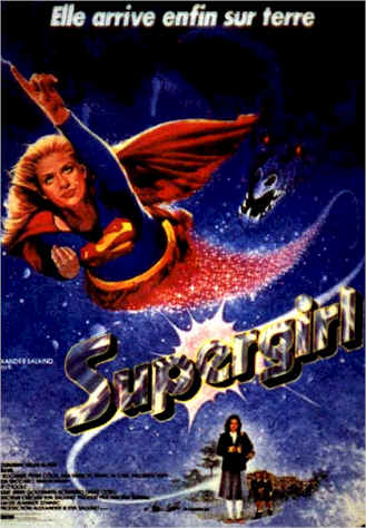 French poster from the movie Supergirl