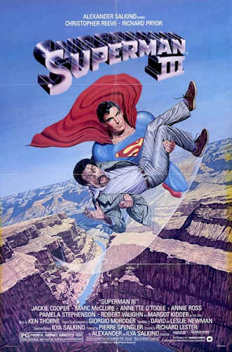 Us poster from the movie Superman 3 (Superman III)
