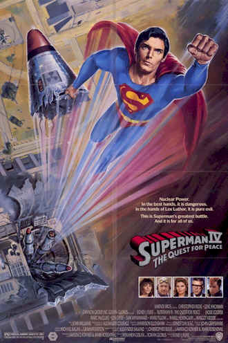 Us poster from the movie Superman 4 : The Quest for Peace (Superman IV: The Quest for Peace)