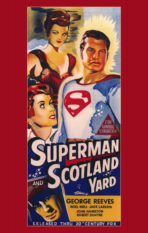 Us poster from the movie Superman in Scotland Yard