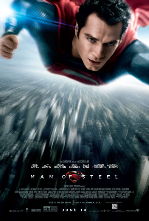 Affiche américaine de 'Man of Steel'