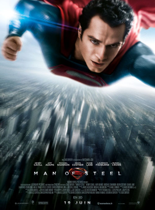 Affiche française de 'Man of Steel'