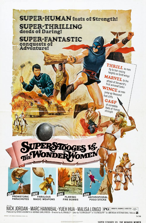 Us poster from the movie Super Stooges vs the Wonder Women (Superuomini, superdonne, superbotte)