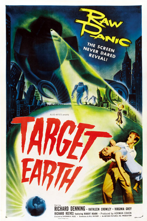 Us poster from the movie Target Earth
