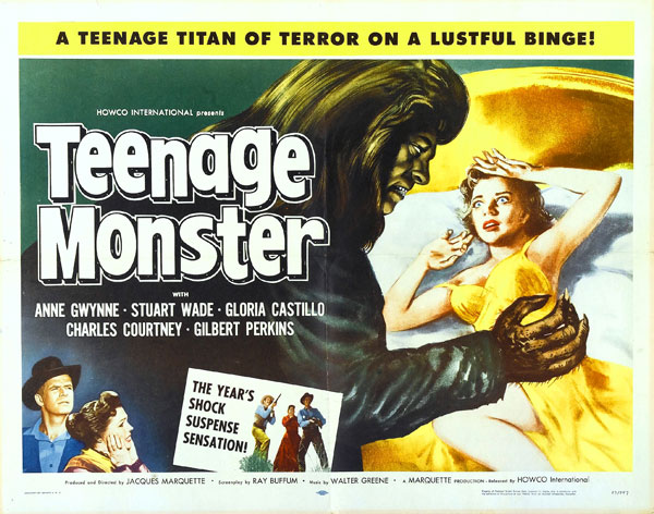 Affiche américaine de 'Teenage Monster'