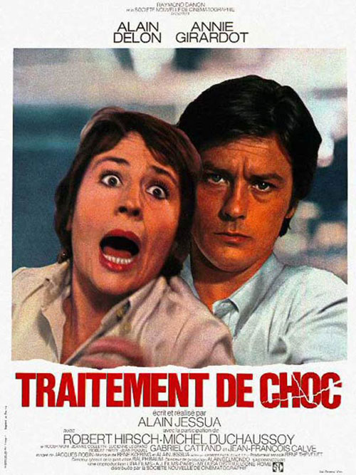 French poster from the movie Shock Treatment (Traitement de choc)