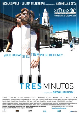 Argentinian poster from the movie Three Minutes (Tres minutos)