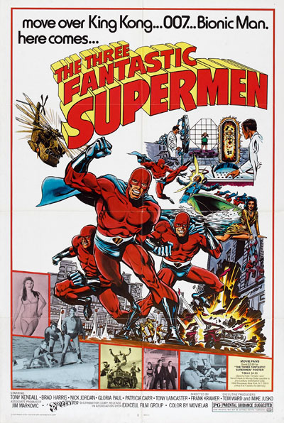 Us poster from the movie The Three Fantastic Supermen (I fantastici 3 $upermen)