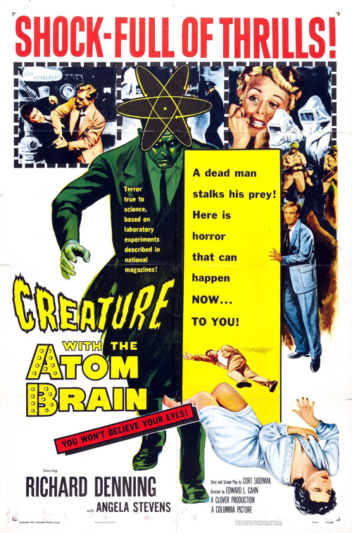 Us poster from the movie Creature with the Atom Brain