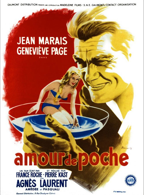 French poster from the movie Girl in His Pocket (Un amour de poche)