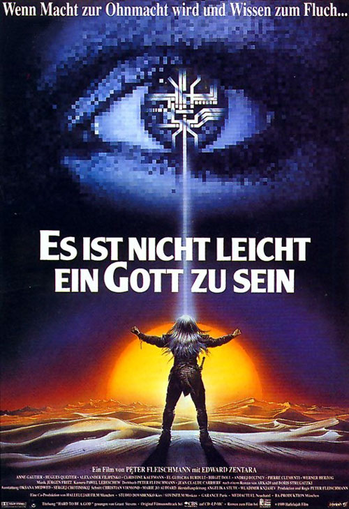 German poster from the movie Hard to Be a God (Es ist nicht leicht ein Gott zu sein)