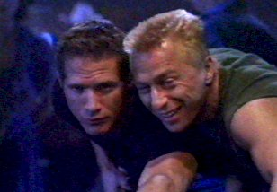 Luc and his brother Eric as GR5 - Universal Soldier II: Brothers in Arms