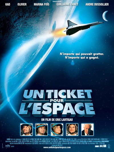 French poster from the movie A Ticket to Space (Un ticket pour l'espace)
