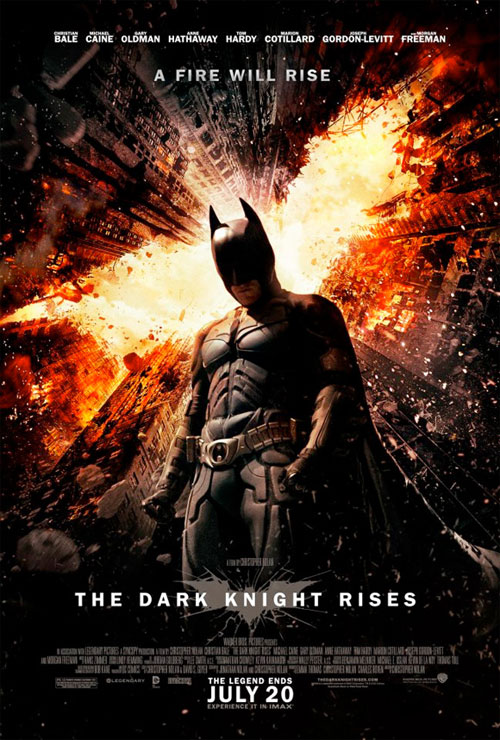 Affiche américaine de 'The Dark Knight Rises'