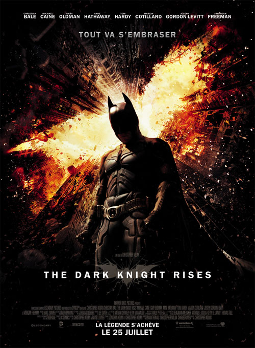 Affiche française de 'The Dark Knight Rises'