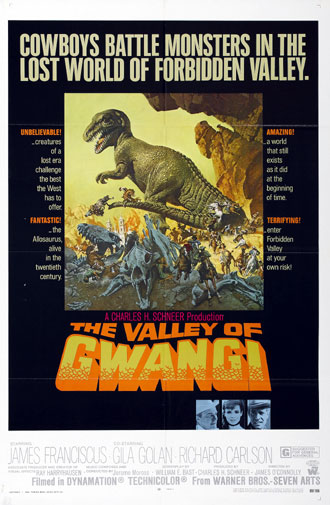 Us poster from the movie The Valley of Gwangi