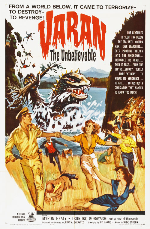 Us poster from the movie Varan the Unbelievable